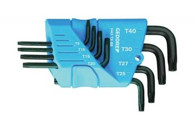Set chei TORX forma L, 9 piese, T7-T40, nr.art. H 43 TX-09