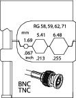 Bac interschimbabil pentru sertizat cablu coaxial RG 58/59/62/71, nr.art. 8140-14