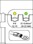 Bac interschimbabil pentru sertizat conectori izolati 0.1-0.4/4-6 mm², nr.art. 8140-01