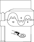 Bac interschimbabil pentru sertizat conectori neizolati 4-6-10 mm², nr.art. 8140-03