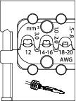 Bac interschimbabil pentru sertizat contacte lamelare 0.5-3 mm², nr.art. 8140-20