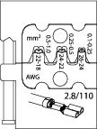 Bac interschimbabil pentru sertizat papuci plati 2.8, nr.art. 8140-09