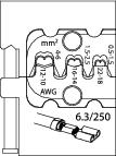 Bac interschimbabil pentru sertizat papuci plati 6.3, nr.art. 8140-11