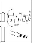 Bac interschimbabil pentru sertizat pini de capat 0.25-10 mm², nr.art. 8140-06