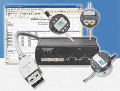 Interfata T-BOX cu 4x Opentruo RS232C, 9-pin , pentru aparate de masura