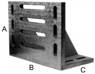 Placa testare vinclu 90°, acuratete 3, cu ghidaje, 400 x 300 x 225 mm DIN 876, DIN 875