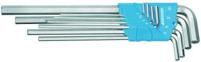 Set chei hexagonale inbus forma L, extra lungi, 8 piese, in suport, 2-10 mm, nr.art. H 42 EL-88
