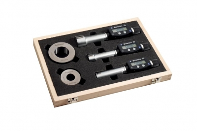 Set micrometru digital cu Bluetooth XT3 in 3 puncte pentru alezaje 20-50 mm cu inel(e) de setare