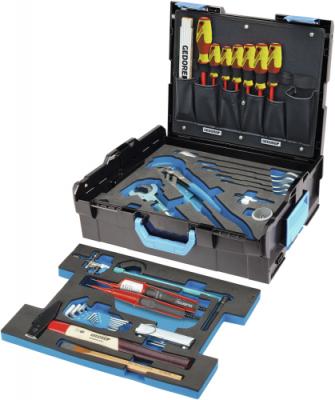 Trusa cu selectie scule pentru instalatori in cutie GEDORE-Sortimo L-BOXX 136, 44 piese, nr.art. 1100-03