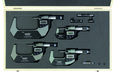 Trusa micrometre digitale de exterior cu port USB, 0-100 mm IP65
